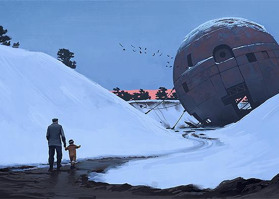 Sci-Fi Paintings by Simon Stålenhag | Daily design inspiration for ...