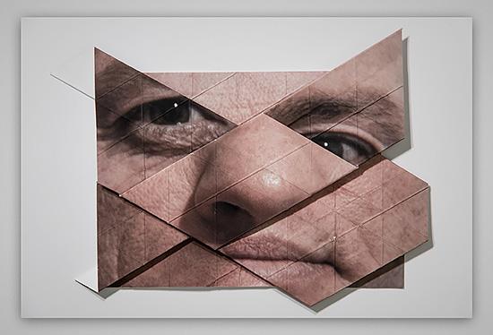 Distorted Origami Faces By Aldo Tolino Daily Design