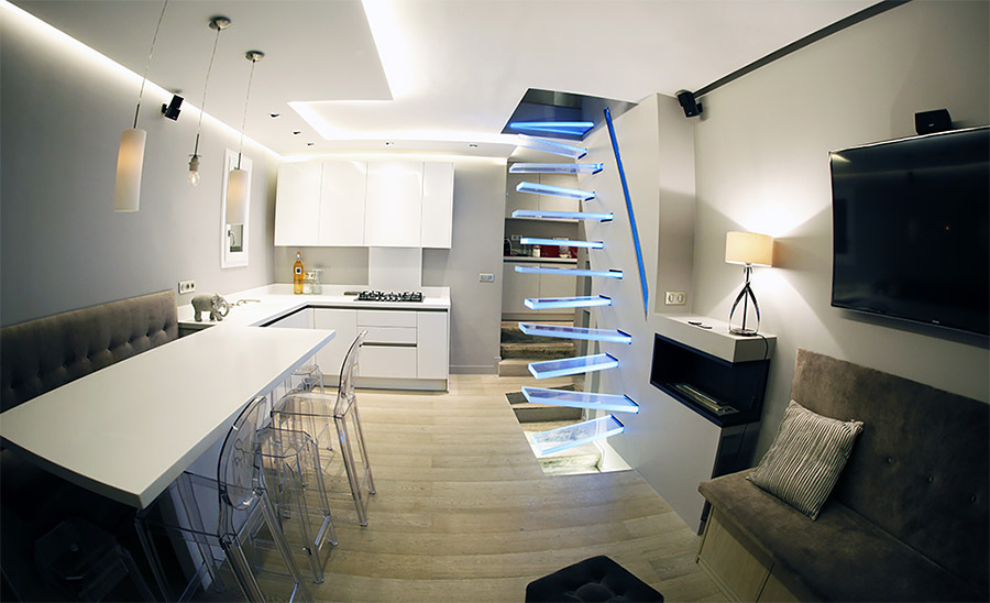 Illuminated Glass Staircase By Fr 233 D 233 Ric Hamerlak Daily