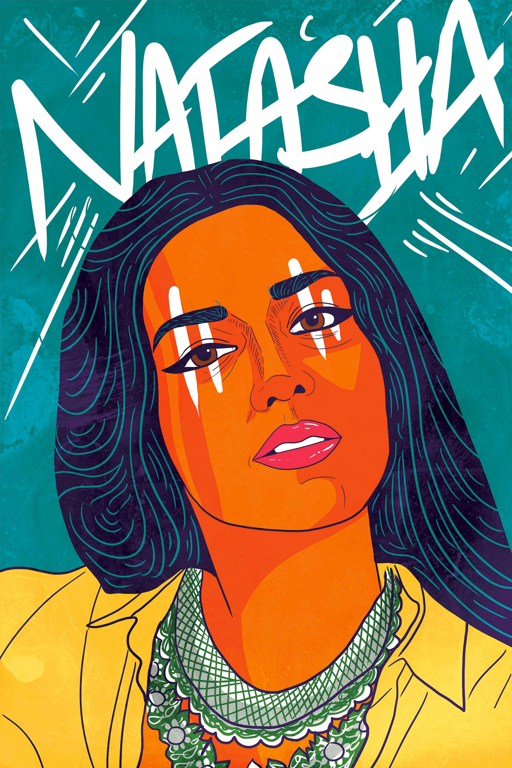 Colorful Illustrated Portraits By Amara Sikander Daily Design Inspiration For Creatives Inspiration Grid